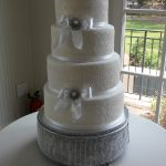 Love Lace Wedding Cake