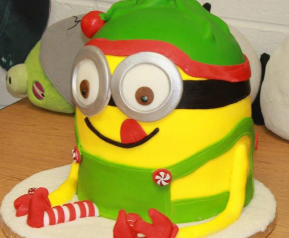 3D Elf Minion Cake