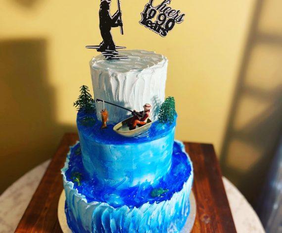 Gone Fishin Cake
